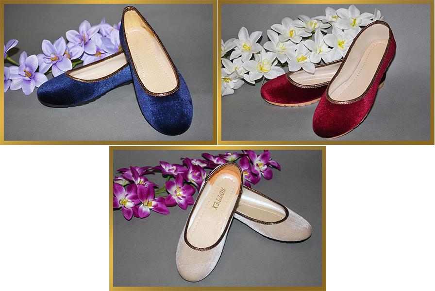 Туфли женские бархатные