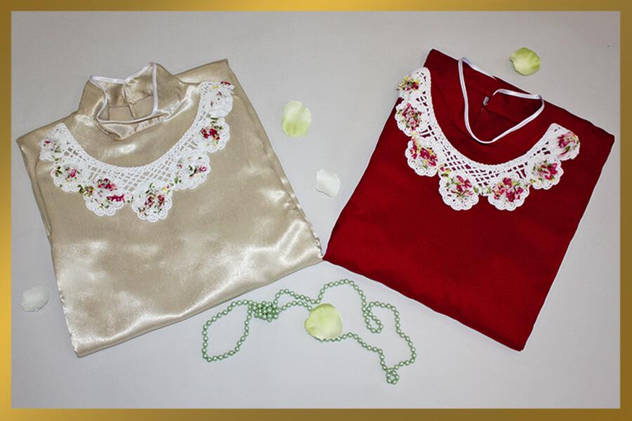Платье с воротником цветным (женское)